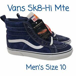 VANS Sk8 Hi MTE, Mens US Size 10 Sneaker Shoe Navy Blue White New