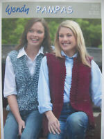 Ladies GILET WAISTCOAT KNITTING PATTERN Pampers super chunky 32 - 43 inch  80s
