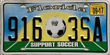 More details for  florida support soccer american license licence usa number plate tag 916 3sa