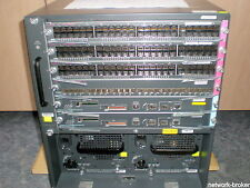 Cisco Switch Bundle WS-C6506-E + Fan + 2x WS-SUP720-3B +3 x WS-X6748-GE-TX  +SFP