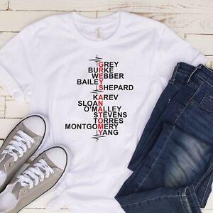 Grey's Anatomy Cast T Shirt 03238