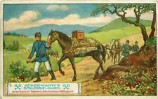 Field Station Telefunken Radio de Campagne Telegraph Germany IMAGE CARD 1900