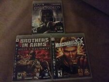 PS3 Dishonored, Brothers In Arms And Mercenaries 2: 3 Game Lot!