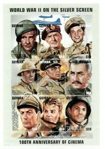 Guyana - 1996 - Cinema World War II Film Star - Sheet Of 9 - MNH