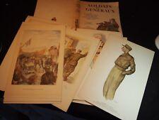 rare et bel ouvrage SOLDATS et GENERAUX illustrations de SISS - WWII