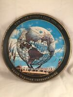 New York World's Fair 1964 1965 Metal Tray Unisphere Peace Through Understanding
