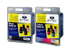 Jet Tec R26 R27 Colours ink Refill Kit bottles For Brother Canon Dell Epson HP