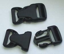 5 x Klickverschluß Steckschließer aus Nylon 25mm Rock Lockster mit Schieber