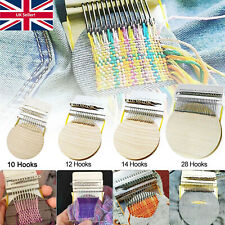 More details for speedweve type small loom diy darning tools with plastic discs 10/12/14/28 hooks