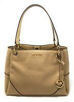 Michael Kors Nicole Large Triple Compartment Shoulder Tote Bag Leather