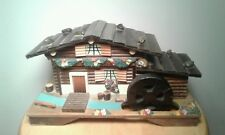Vintage Made In Japan Wind Up Wooden Water Wheel theme Music/Jewlery Box
