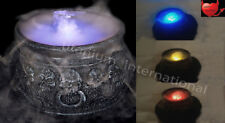 Halloween Cauldron Mister Mist/SmokeY Fog Machine COLOUR CHANGING Party Prop 7''
