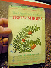 THE OBSERVER'S BOOK OF TREES & SHRUBS -  N° 4 1959