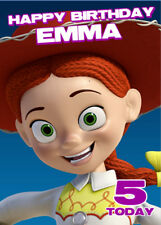 Jessie Toy Story Personalised Birthday Card Add your own name & age