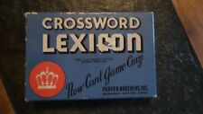 Vintage 1937 CROSSWORD LEXICON GAME Parker Brothers - Complete