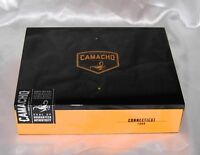 Camacho Connecticut Hinged Finished Tobacco Hand Made Handcrafted Wood Cigar Box