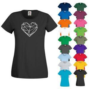 CRE8 ORIGAMI HEART  T Shirt 6 - Womens Girls Novelty Top