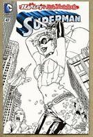 Superman #47-2016 nm 9.4 Lee Bermejo Harley Quinn SKETCH Variant Cover DC