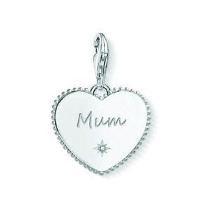 NEW Thomas Sabo Sterling Silver Heart Mum Charm Pendant Love Bond Parent Queen