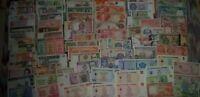 Lotto 80 banconote mondiali differenti FDS + regalo