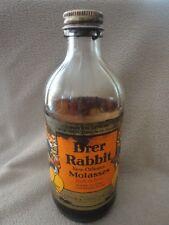 Brer Rabbit Black  Molasses Bottle 1956 With contents and paper label Vintage