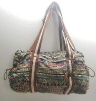 Sakroots Bag Elephant XL Handbag Tote Purse Shoulder Bag Multiple Pockets Peace