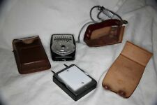 Working Vintage Coronet B Light Meter With Booster Attachment With Strap & Case