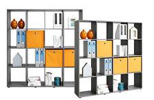 Bücherregal Aktenregal Büroregal Raumteiler Silbereiche Grau 140 cm breit