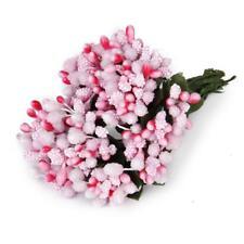 12 ramos de flores Mini bolas de estambre de flores artificiales rosa