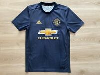 Adidas Parley Manchester United 2018-19 3rd Soccer Grey Authentic Jersey Small