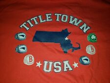"Barstool Sports ""Title Town"" Boston T-Shirt NWOT Patriots Red Sox Celtics L NWOT"