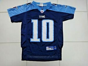 Vince Young Reebok Tennessee Titans #10 Blue Football Jersey~Youth S (8)~VGC