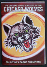 NEW 2011-2012 CHICAGO WOLVES (AHL) AMERICAN ICE HOCKEY LEAGUE POCKET SCHEDULE