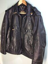 Vintage steerhide Police Motorcycle Jacket size 40 Honda Goldwing patches