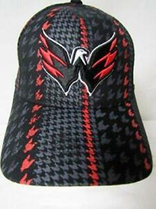 Washington Capitals OSFA Embroidered Bridge Flexfit Baseball Cap Hat E1 174