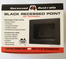 All Australian - Recessed Australia - Power Point - Wall Power Point -  Black