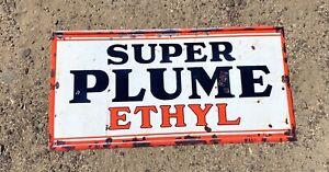 Super Plume Ethyl Oil Petrol Metal Sign