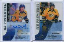 15-16 UD ICE  Viktor Arvidsson 2 Cards Lot Ice Rc /1499 + Ice Premieres Auto/499