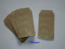 20 pochettes cadeaux kraft brun 7 X 12 cm.