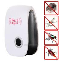 Electronic Ultrasonic Anti Pest Bug Mosquito Cockroach Mouse Killer Repeller NEW