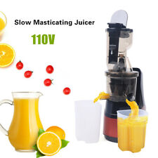 1000ml Slow Masticating Juicer Cold Press Extractor Fruit Vegetable 150W Red Us