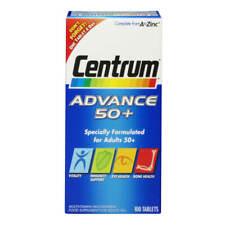 Centrum Advance 50 Plus Complete A - Z Multivitamins / Multimineral 100 Tablets