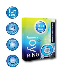 PLAYTIME JOY RING BLUE STIMULATION COCK PENIS RINGS INTENSE FEELING FOR LONGER