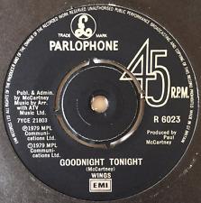 "WINGS - Goodnight Tonight (7"") (VG-EX/VG)"