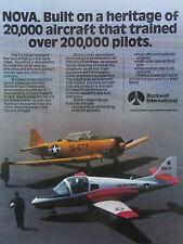 9/1981 PUB ROCKWELL US AIR FORCE NGT TRAINER NOVA T-6 TEXAN ORIGINAL AD