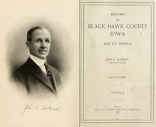1915 BLACK HAWK County Iowa IA, History and Genealogy Ancestry Family DVD B38