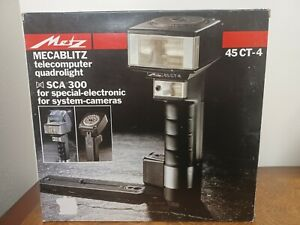 Metz Mecablitz 45 CT-4 Telecomputer Quadrolilght SCA 300 Complete Free Priority