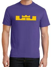 New Mens LJ Crown T-shirt Lebron James LA Lakers Purple Yellow Los Angeles