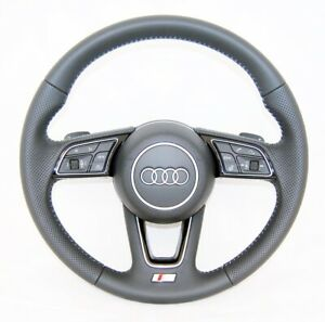 OEM AUDI A4 S4 A5 S5 S LINE TIPTRONIC PERFORATED HEATED COMPLETE STEERING WHEEL