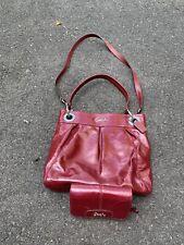 COACH Ashley Hippie Bag Purse F17953 - Garnet/Deep Red - Patent Leather